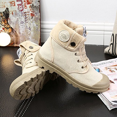 Shoes Combat Multifunction Sneaker Hiking Shoes Women Boots Desert Canvas Outdoor Khaki BPnYx