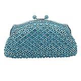 Bonjanvye Kiss Lock Evening Bags For Womens Clutch Purses And Handbags
