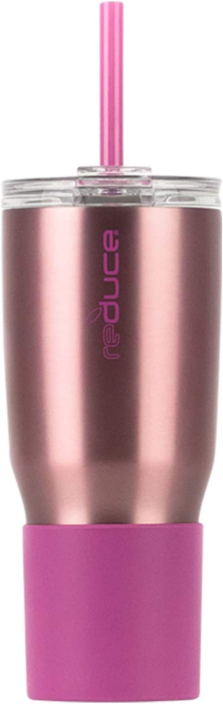 2 Pack Reduce Cold 1 Tumbler with Straw 24 OZ Dual Wall Vacuum Insulated Purple