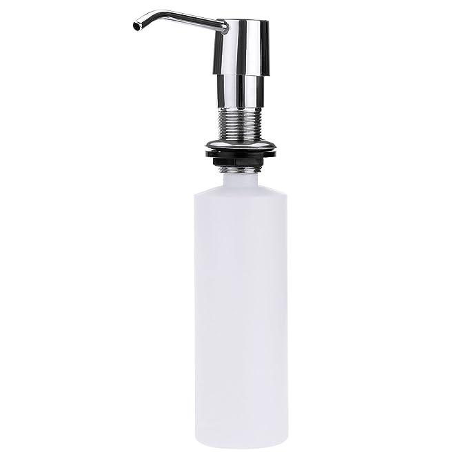 tinxi® Dispensador jabon con bomba acero y botella plástica 250ml rellenable para jabón liquido loción: Amazon.es: Hogar