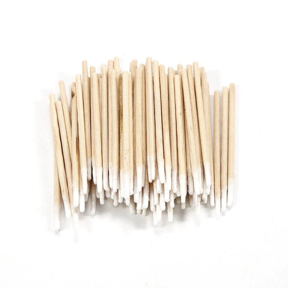 100pcs Single Mini Pointed Head Wooden Cotton Swab Tip - For Medical Cure Health Make-up Stick Nail Art Cosmetic Tool angju