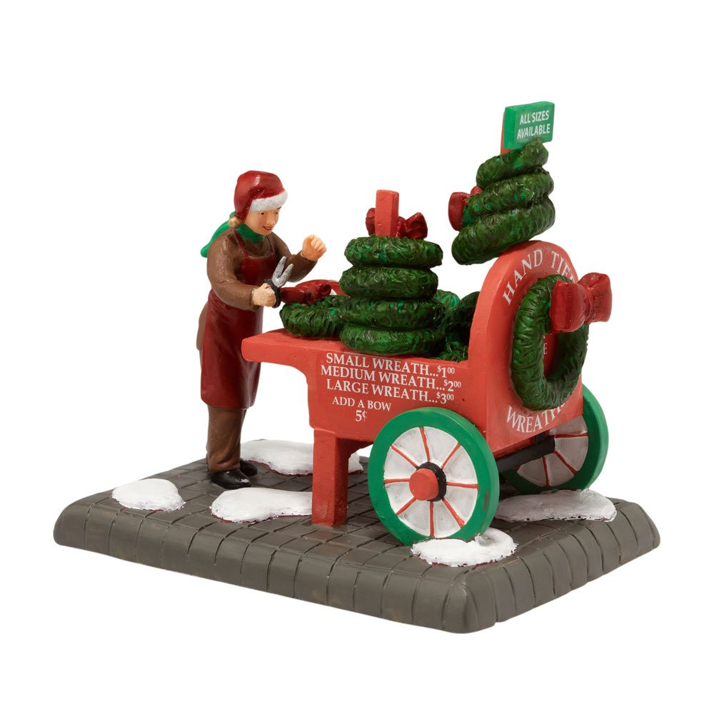 Department 56 Christmas in the City Village City Wreath Seller Accessory Figurine
