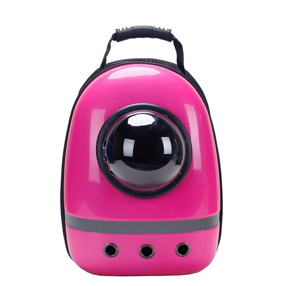 C Daeou Pet Backpack Cat Bag pet Out cat Bag cat cage Breathable Portable Cabin Double Shoulder cat Bag Dog Backpack Space Bag PVC 43  30  22cm