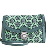 Vera Bradley Women's Ultimate Wristlet Nomadic Blossoms/Gray Clutch
