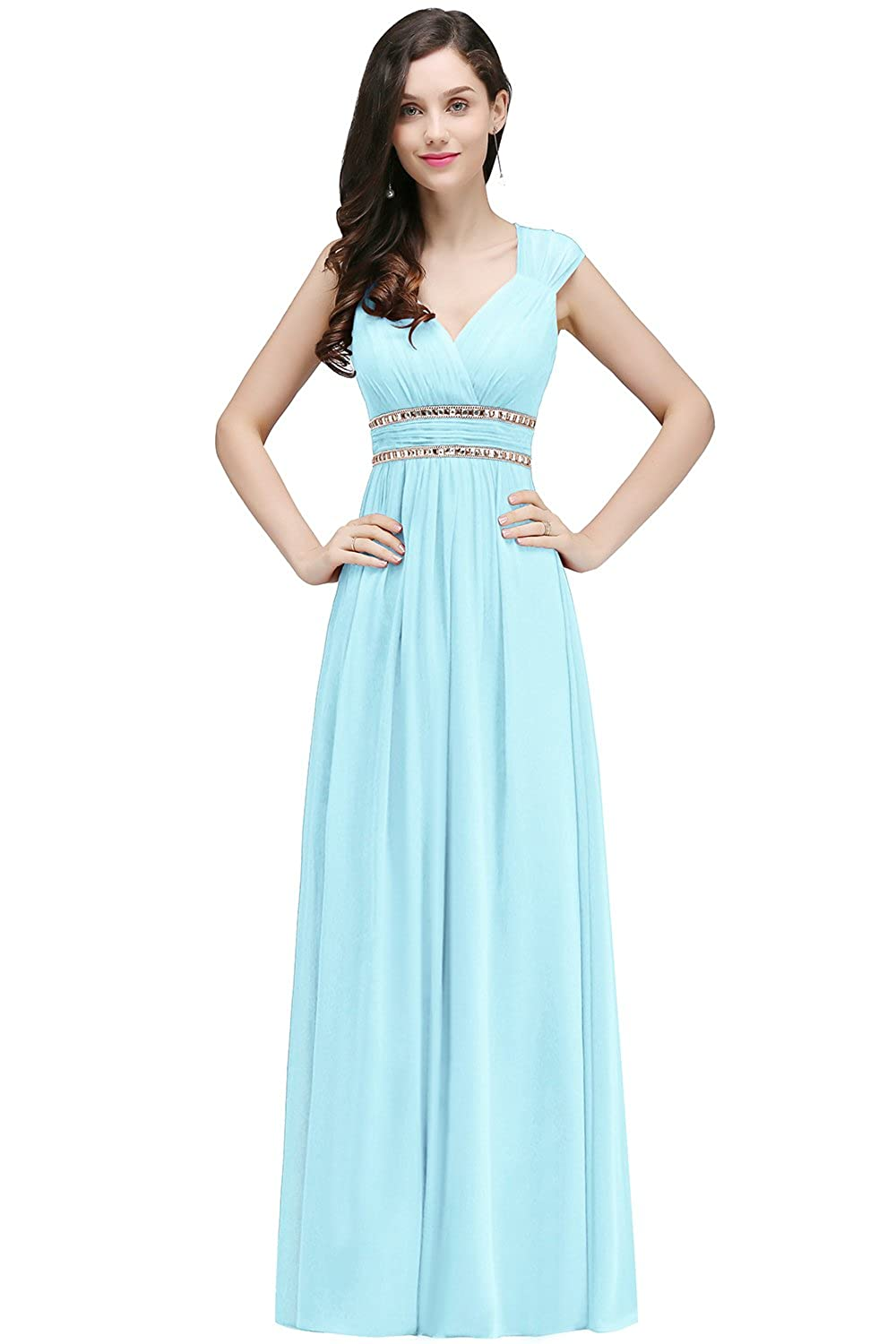 Babyonline Womens Chiffon Long Formal Evening Maternity Dresses for ...