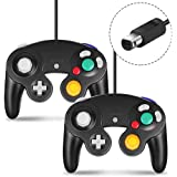 Gamecube Controller, CIPON Wired Controllers Classic Gamepad Joystick for Nintendo and Wii Console Game Remote Black