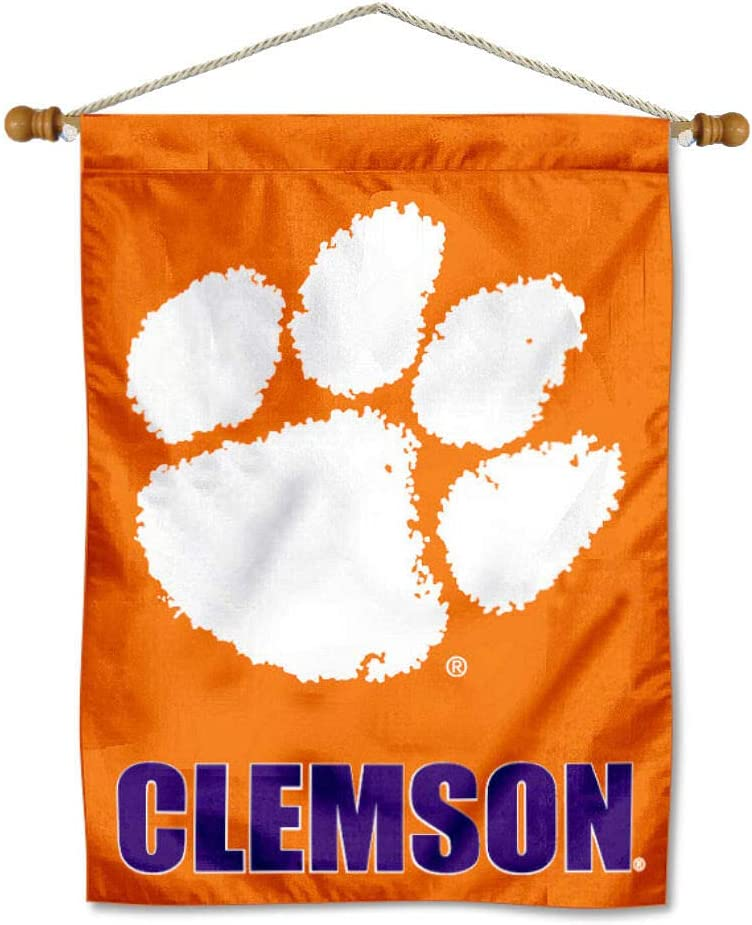 Clemson Tigers Banner with Hanging Pole