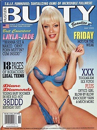 (HUSTLER Busty Beauties Adult Magazine MAY 2002 LAYLA JADE DIANE)