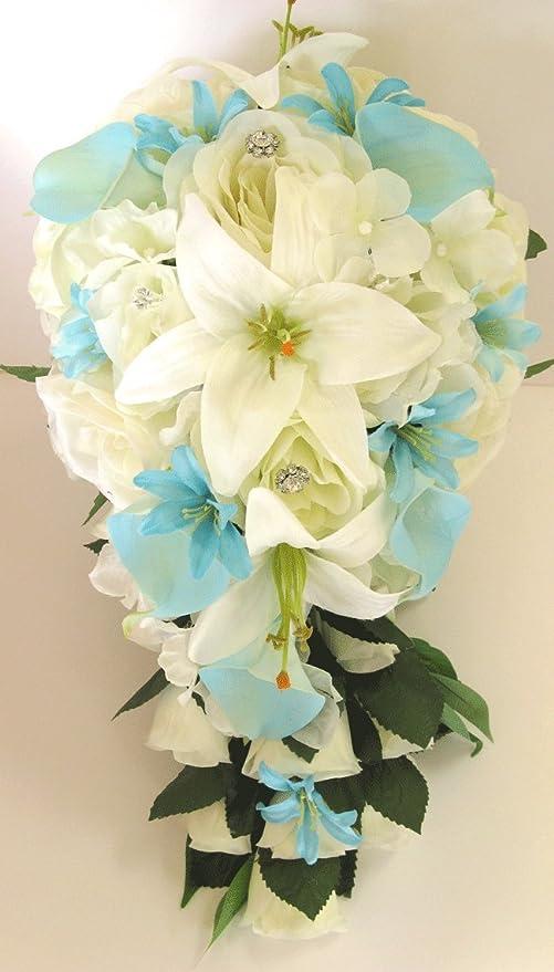 Amazon Com 17 Piece Wedding Bouquet Package Bridal Bouquets