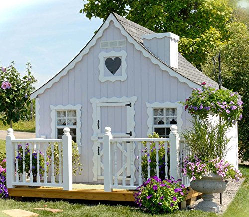 Little Cottage Company Gingerbread DIY Playhouse Kit, 8' x 10' ()