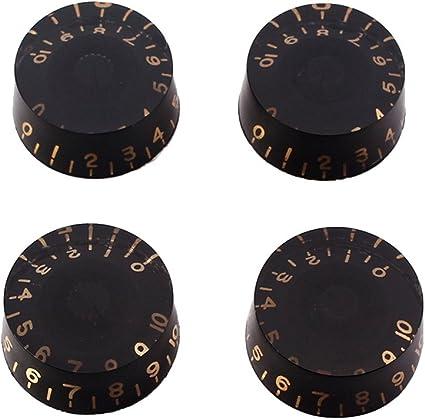 Guitar Speed Knobs BLACK NEW Vintage Numbers 2