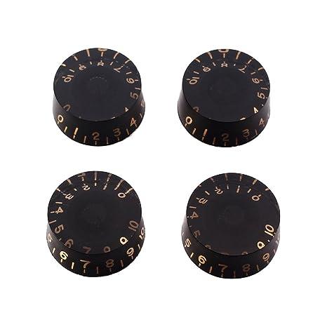 Healifty 4 UNIDS Perillas de Guitarra Velocidad Volumen Botones de Control de Tono para Gibson Epiphone