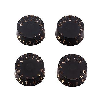Healifty 4 UNIDS Perillas de Guitarra Velocidad Volumen Botones de Control de Tono para Gibson Epiphone Estilo Guitarra Eléctrica Piezas de repuesto ...