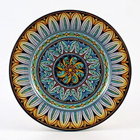 Hand Painted Italian Ceramic 11-inch Dinner Plate Vario F2 - Handmade in Deruta  sc 1 st  Amazon.com & Amazon.com | Hand Painted Italian Ceramic 11-inch Dinner Plate Vario ...