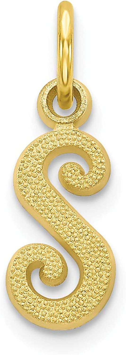 10k Initial S Charm 10k Yellow Gold