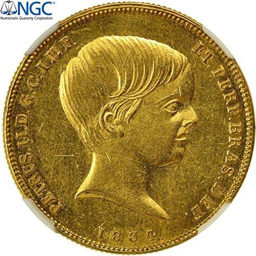 1834 No Mink Mark No series 10000 Reis NGC MS61