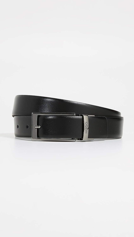 HUGO Mens Gilvin Reversible Embossed Leather Belt