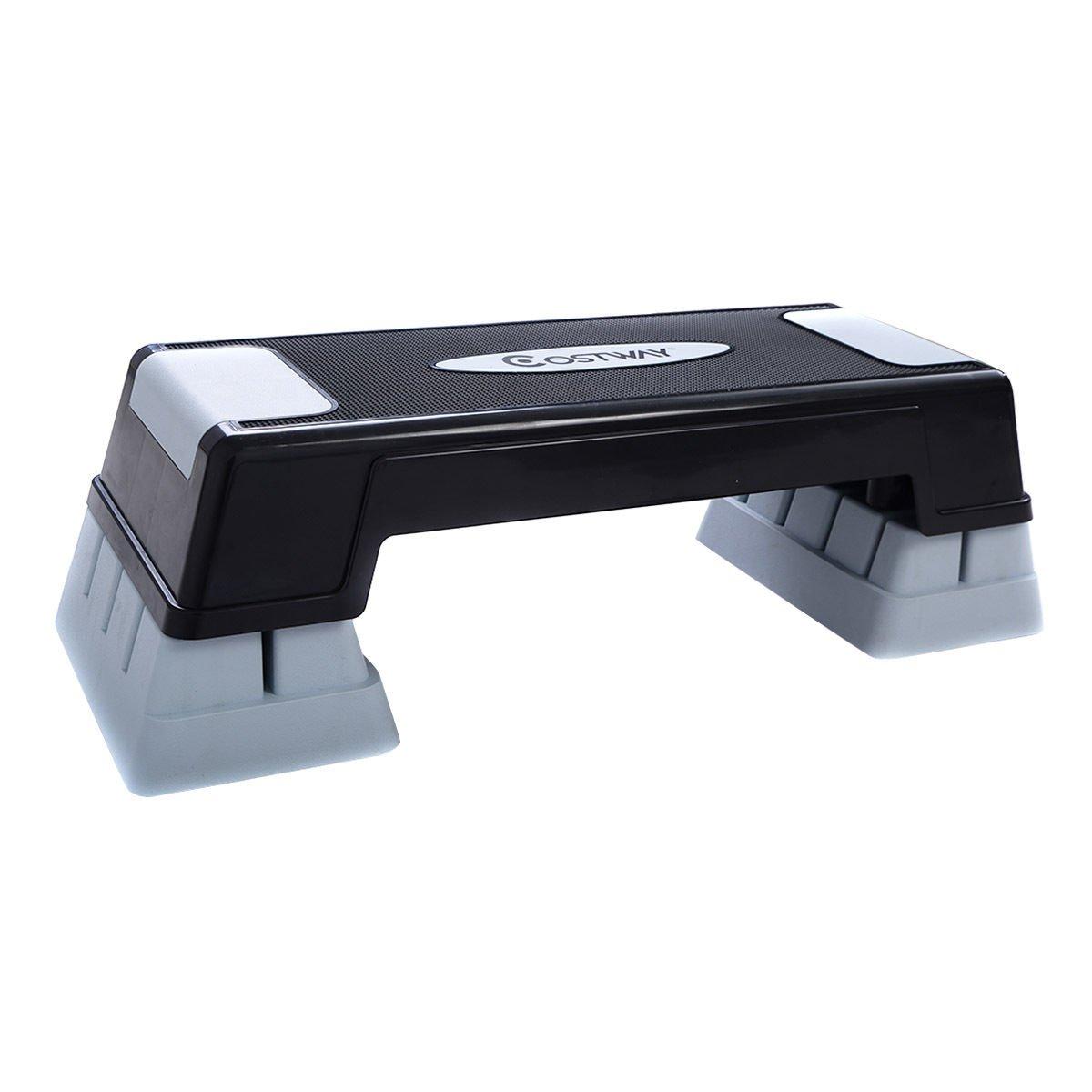 "Costway 29"" Aerobic Fitness Stepper Platform Adjust 5'' - 7'' - 9'' Exercise Stepper w/Risers"