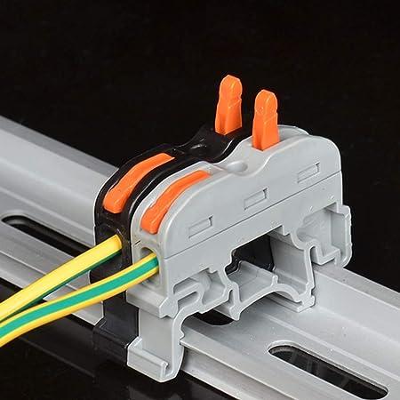 ULTECHNOVO Conectores compactos de cable de conexi/ón r/ápida de 10 tuercas de palanca gris