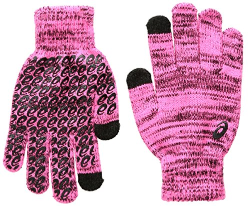 ASICS Womens thermal liner Glove, Knockout Pink, Large/X-Large