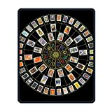 Mouse Pad Galaxy Rectangle Non-Slip Rubber Mousepad Astrology Tarot Original Print Gaming Mouse Pad