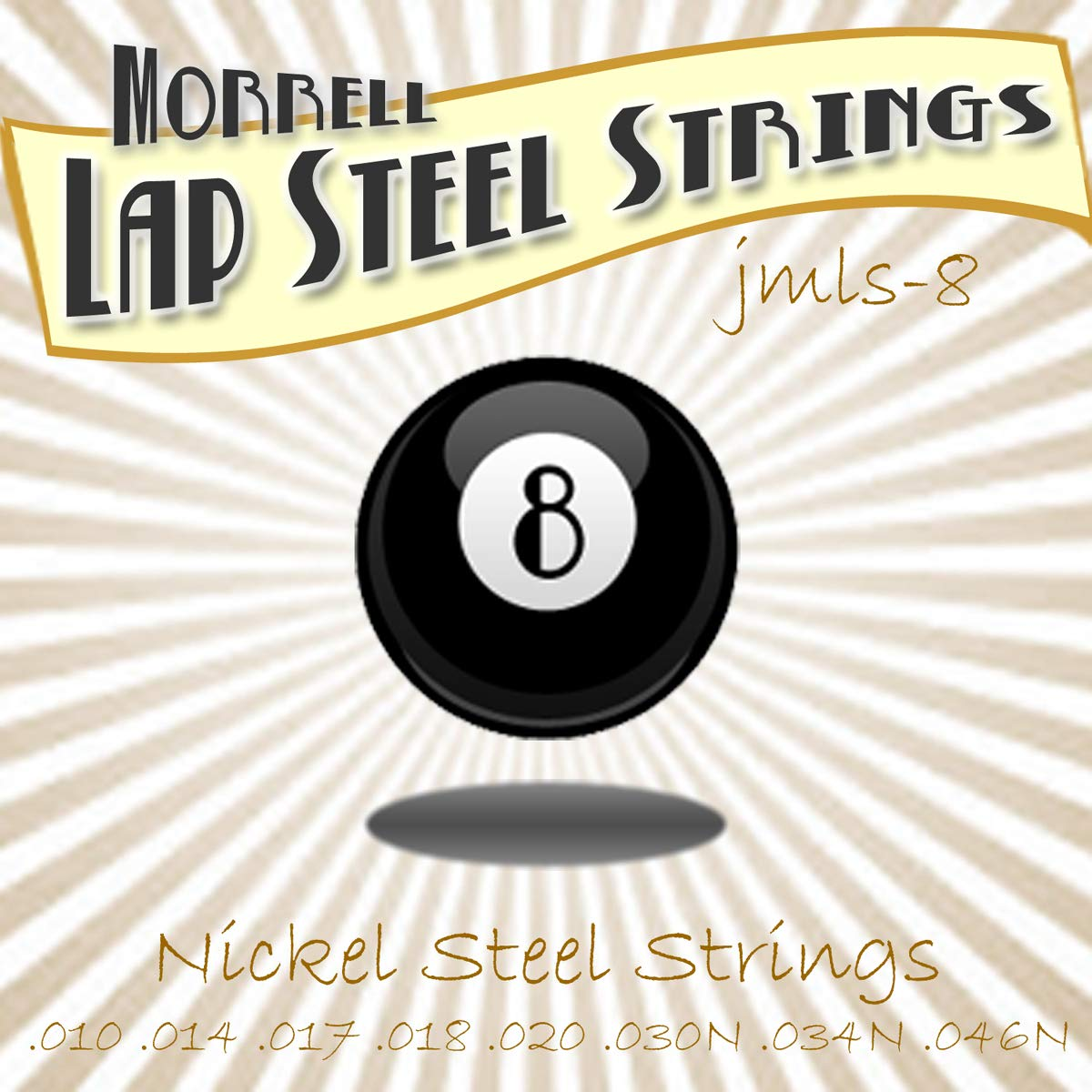 Joe Morrell Premium JMLS-8 8-String Lap Steel String Set (3 Pack) by Morrell