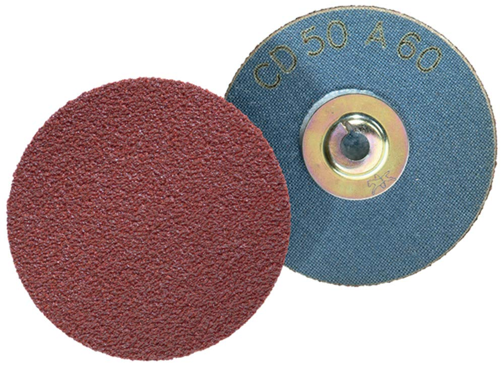 Grit 180 Box of 25 1 Diameter Aluminum Oxide Merit ALO PowerLock Abrasive Disc Type I Cloth Backing