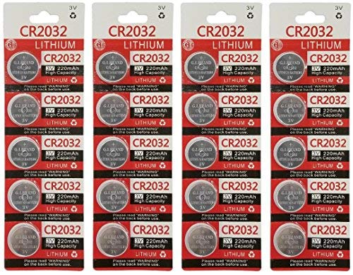 - GI 3 Volt 2032 Battery, CR2032 Lithium 3v Coin Cell Watch Battery (20)