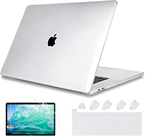 May Chen Newest MacBook Pro 13 inch Case 2020 Release A2289 A2251, Plastic Crystal Clear Hard Shell Case Cover for MacBook Pro 13 with Retina Display and Touch Bar Fits Touch ID, Clear