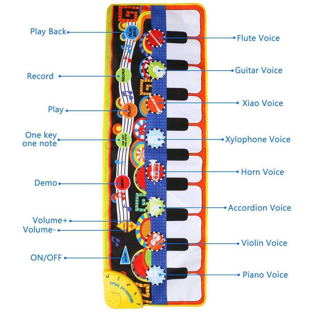 Yeenee 19 Keys Piano Play Mat Dance Musical Mat Kids Musical Floor Game Activity Blanket Cushion by Yeenee (Image #4)