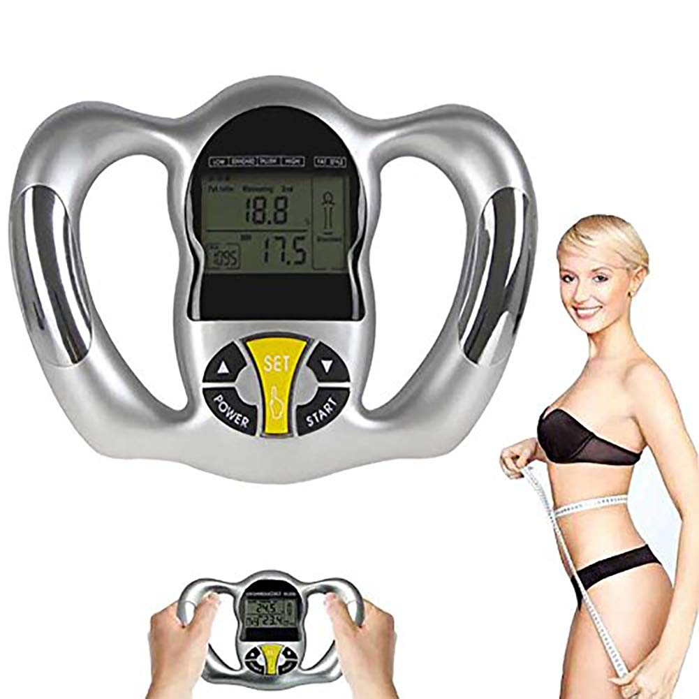 ZUZU Body Fat Caliper SUJING Digital Body Fat Caliper Electronic Handheld Body Fat Measurement Device Measuring Tool Index BMI Health Monitor