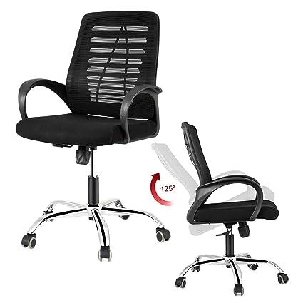 Dosleeps Office Chair Heavy Duty Comfortable V Shape Medium Back
