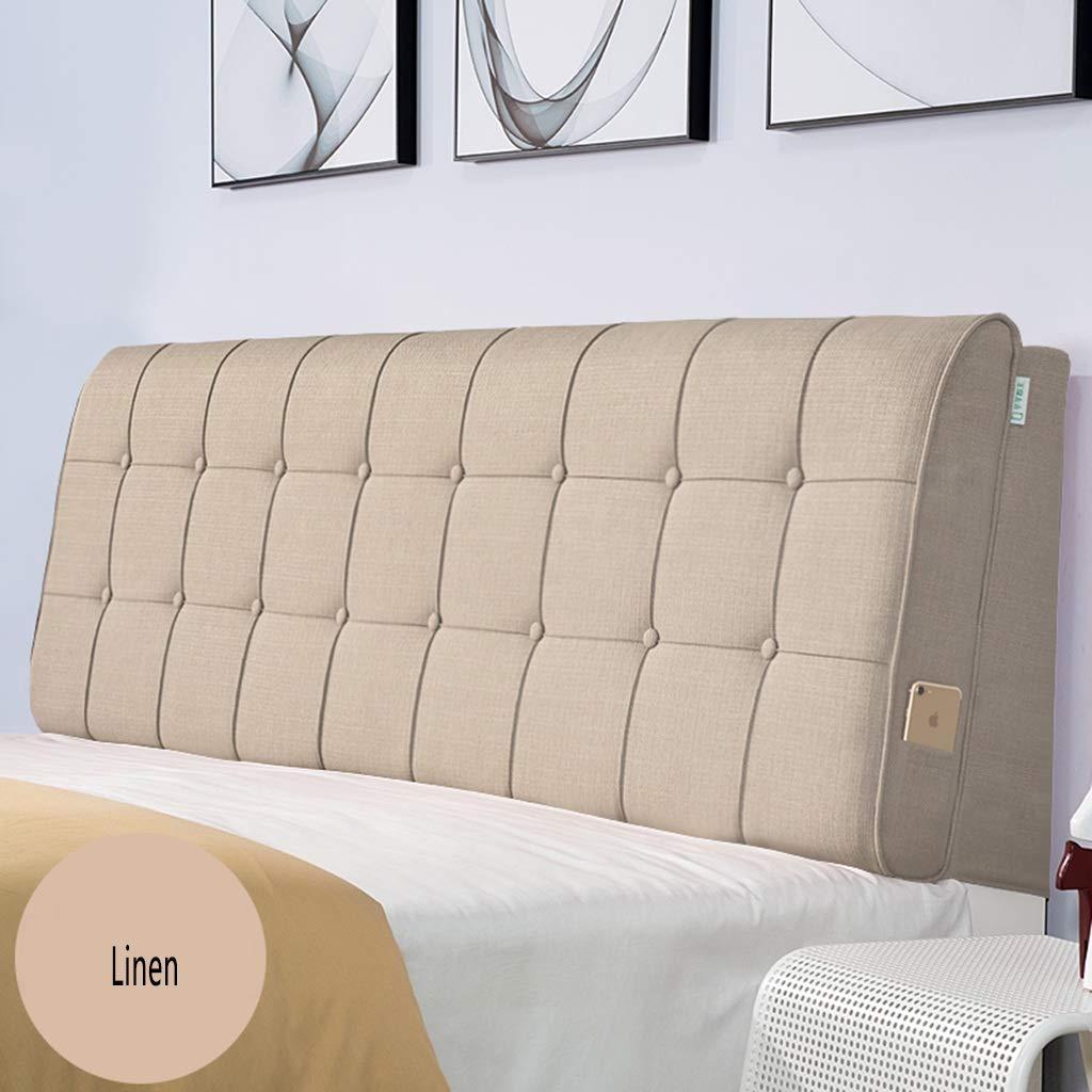バックレストベッドサイドカバーベッドバックレストクッション ヘッドボード 大型枕 ベッドサイド 布張り腰パッド ソフト 5色 マルチサイズ 150 60 120*60 120*60 D B07MRLDFXS