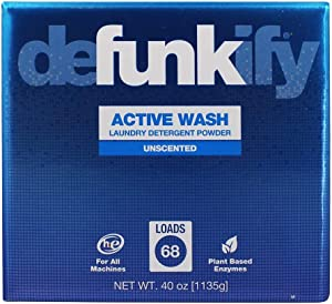 Defunkify Active Wash Powder Laundry Detergent - 68 Loads, Unscented - 40oz