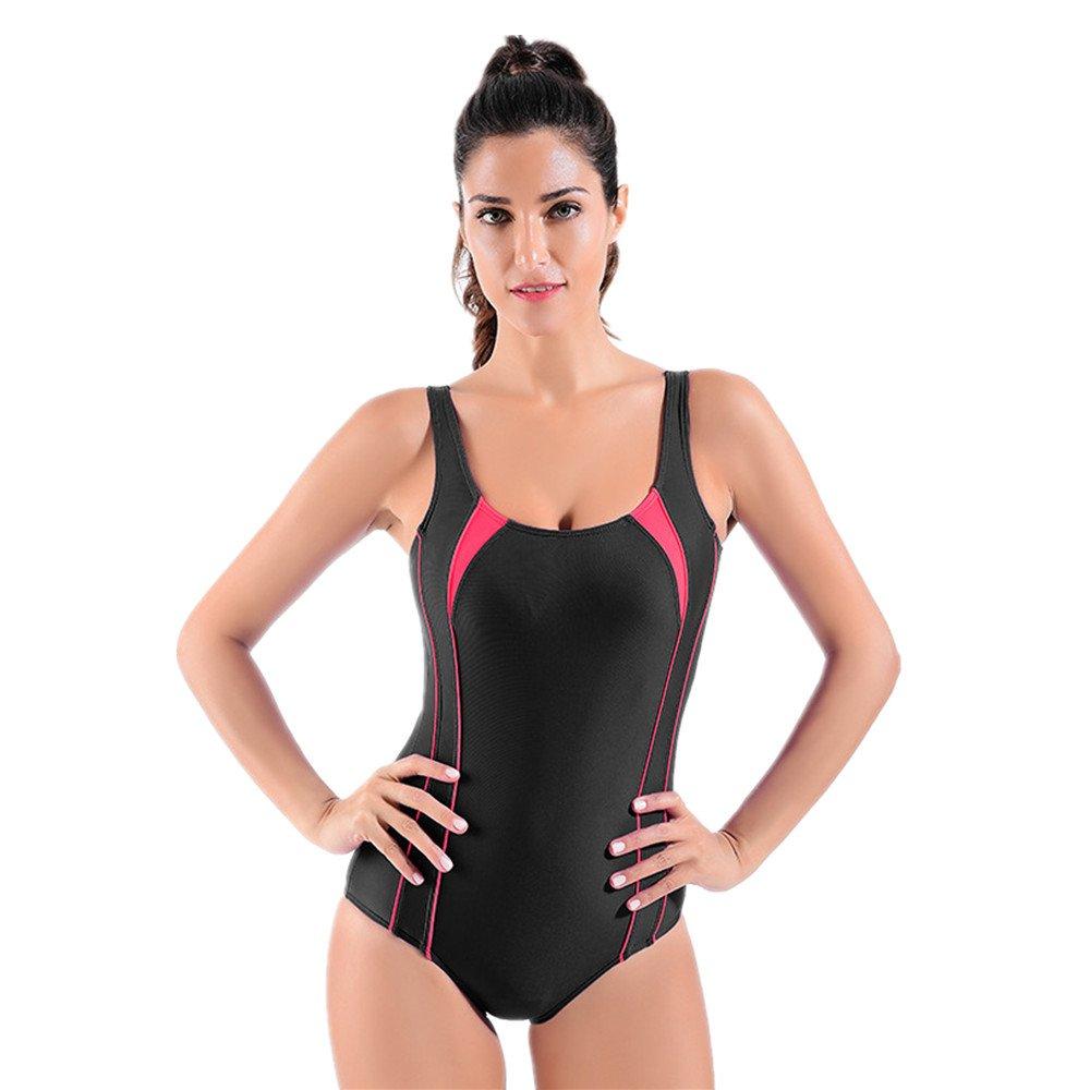 Ms. 水着 ワンピース水着 保守的な水着 ビキニ に適して 水泳 ウェディング エクササイズ スパ (Size : L) B07DXXGC62 Large