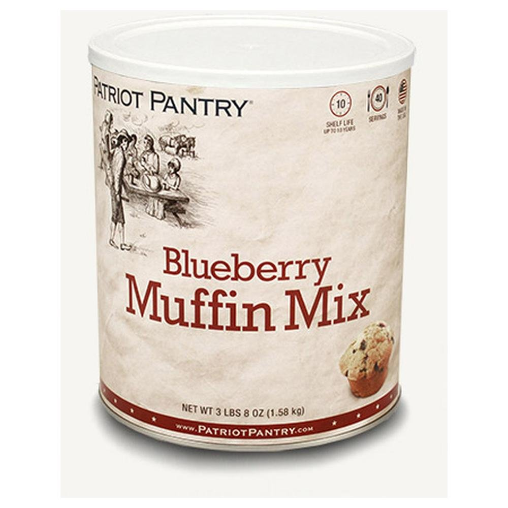 Patriot Pantry Blueberry Muffin Mix (40 servings) #10 Can Bulk Emergency Storage Food Supply, Up to 10-Year Shelf Life