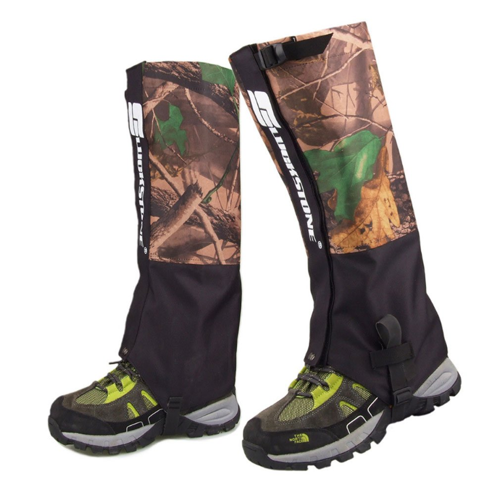 Ezyoutdoor 1 Pair Camouflage Unisex Outdoor Durable Waterproof Snowproof Walking Gaiters Snow Legging Leg Cover Wraps for Outdoor Hiking Climbing Hunting Camping by ezyoutdoor