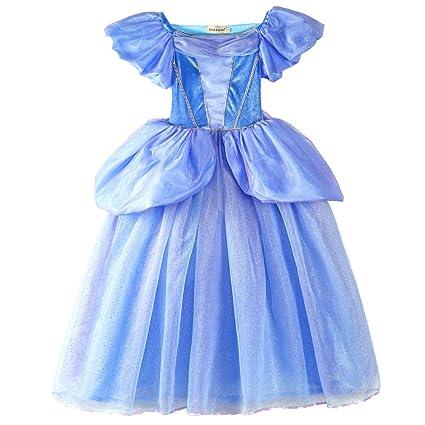 ELSA & ANNA® Princesa Disfraz Traje Parte Las Niñas Vestido (Girls Princess Fancy Dress) ES-FBA-CNDR2 (2-3 Años, ES-CNDR2)