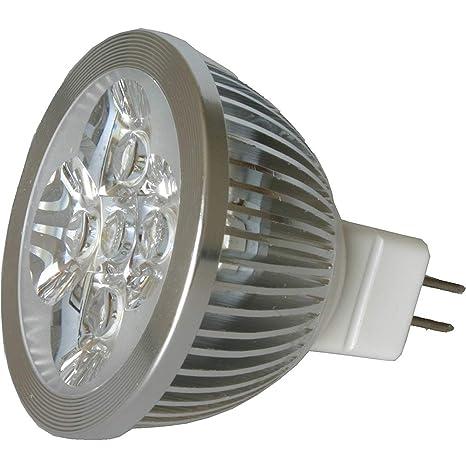 Ndier 4W Bombillas LED LED MR16 4W 12V 440 Lumen 50 vatios 7000K Equivalente frío de