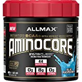 Cheap ALLMAX Nutrition AMINOCORE BCAA 8G BCAAs 100 Pure 45 30 25 Ratio Gluten Free Blue Raspberry 1 02 lbs 462 g