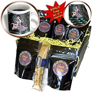Dream Essence Designs Fantasy - An mythical elf creature of the forest who plays a haunting melody on an enchanted flute - Coffee Gift Baskets - Coffee Gift Basket (cgb_11646_1)
