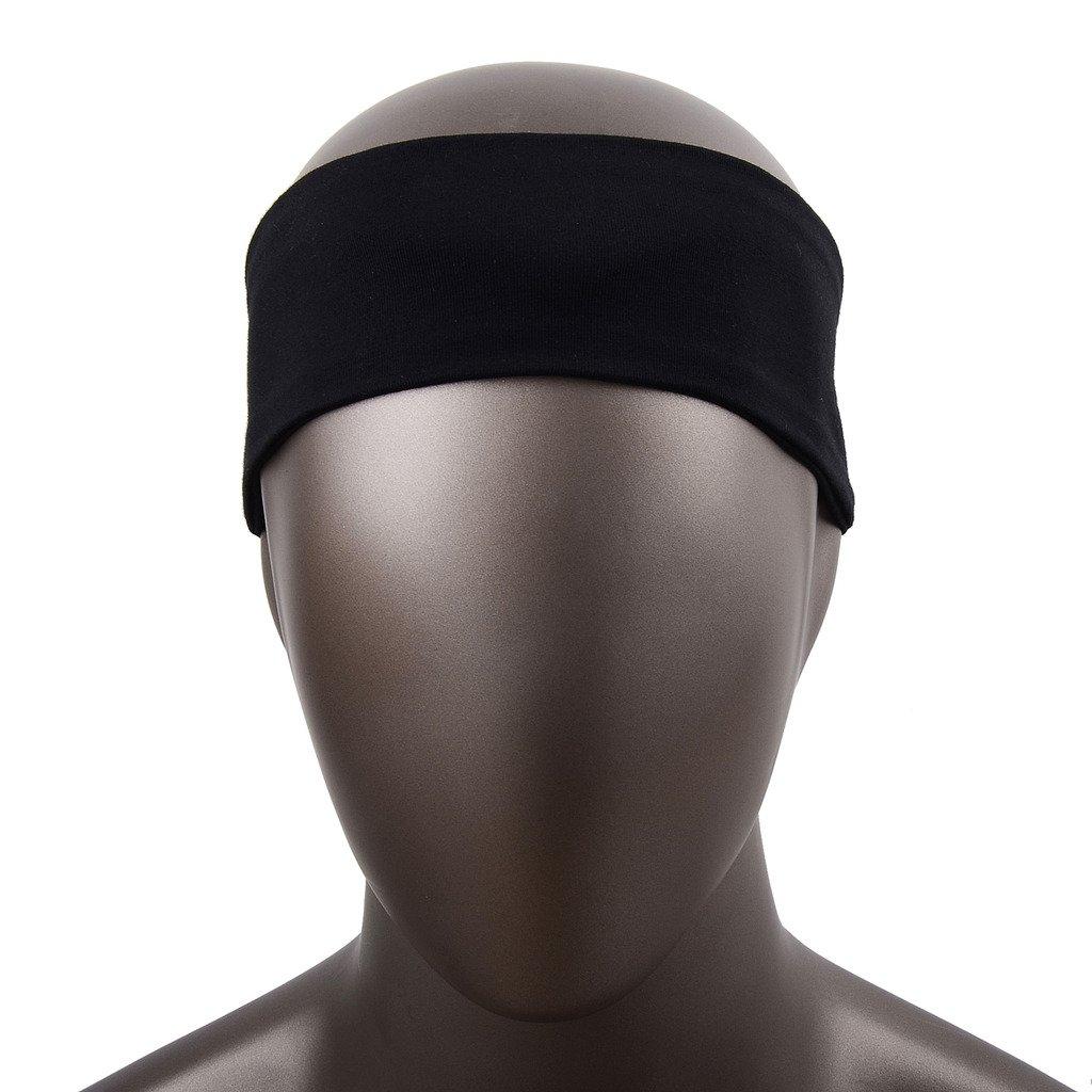 COOLOMG Leichter Stirnband Klettverschluss Einstellbar mit Wireless Kopfh/örer Kopfh/örer Headset f/ür Bewegung Outdoor Sport Laufen Yoga Air Travel Black