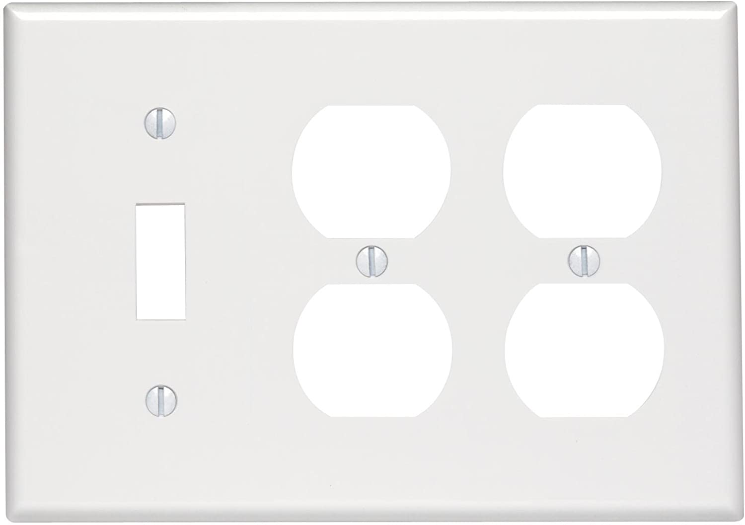 Leviton 88047 3 Gang 1 Toggle 2 Duplex Device Combination Wallplate Standard Size Thermoset Device Mount White Combination Switch Outlet Plates Amazon Canada