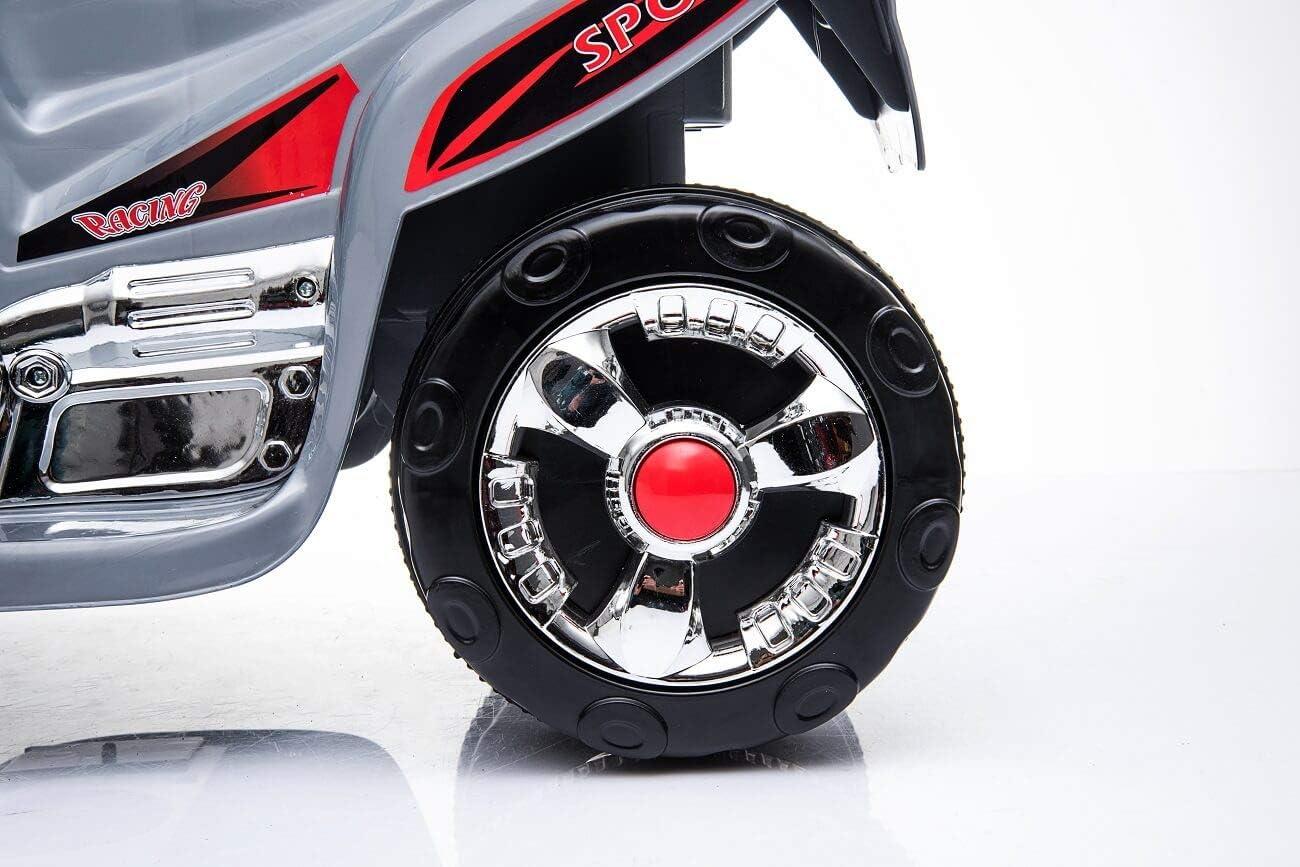 Toyas Kindermotorrad Elektromotorrad Elektro Kinder Polizei Motorrad Kinderfahrzeug Musik NEU Wei/ß