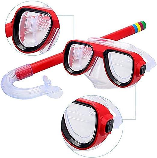 Juego de esn/órquel para ni/ños v/álvula de purga y gafas antivaho gafas de buceo con tubo