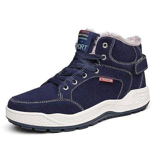 AFFINEST Zapatos de Invierno Hombre Botas de Nieve Calentar Plano Botines Casual Deportivos al Aire Libre