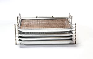 Bull Rack - BR3 Ultimate Package - Grill Tray System - Grill, Smoke, Dry and Cure Meats and Vegetables - Grilling Rack and Tray