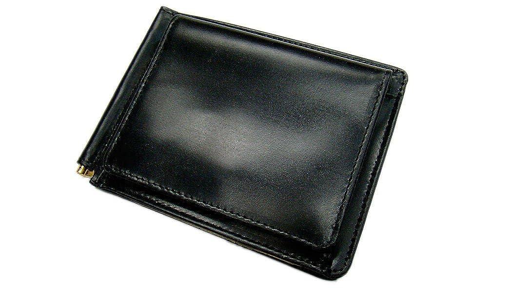 【 グレンロイヤル / GLENROYAL 】03-6164 ●MONEY CLIP WITH POCKET 二つ折り革財布( マネークリップウォレット/ブライドル ) (日本正規取扱店) B075MXLN8B  NEWBLACK