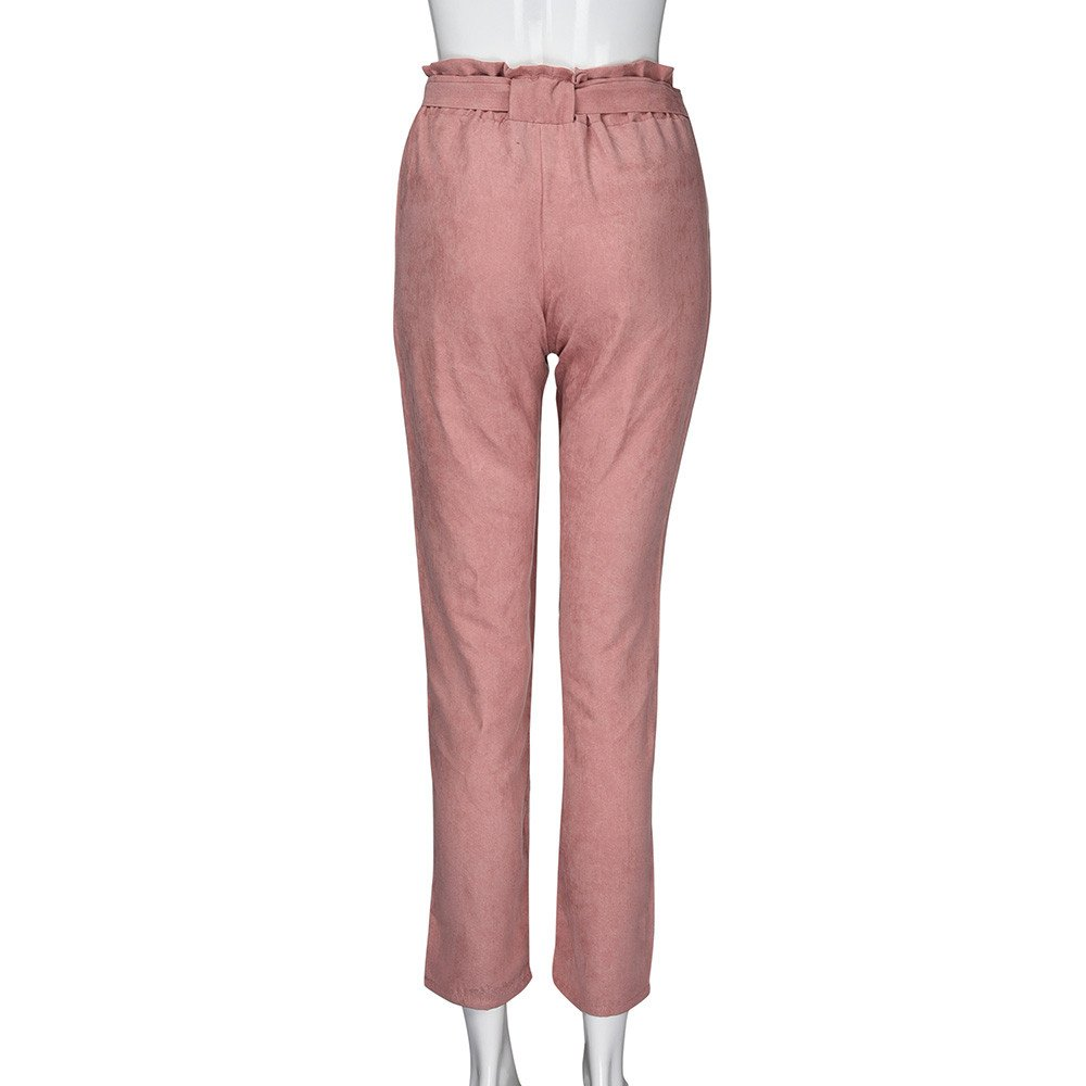 , Eleganti alla Moda Skinny Slim Fit Vita Alta Taglie Forti Pantalone A Righe,Mambain Pantaloni Svago Donna