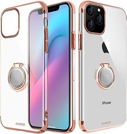 Xundd iPhone 11 PRO Custodia, Cristallo con Anello Magnetico del cavalletto Funzione di 360 °, Magnete Supporto per Auto per Apple iPhone 11 PRO (Oro ...